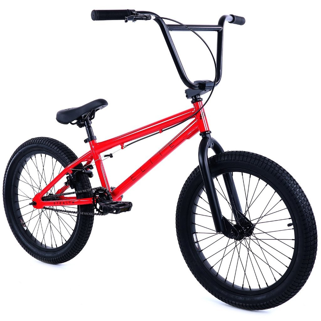 "Elite 20"" BMX Bicycle The Stealth Freestyle Bike New 2018 - Red"