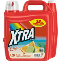 Xtra Liquid Laundry Detergent, Calypso Fresh, 255oz