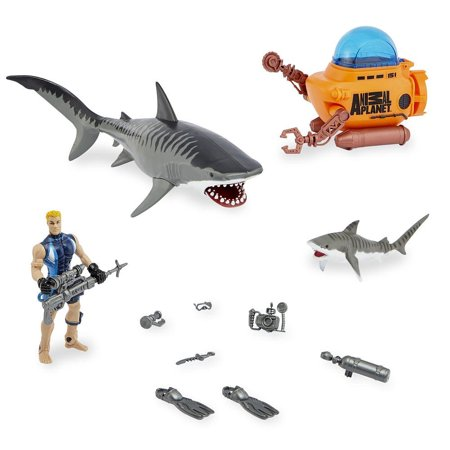 Animal Planet Tiger Shark And Submarineplayset     By Toys R Us Ship From Us