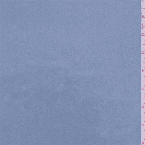 Powder Blue Microsuede Knit, Fabric By the Yard