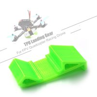GEPRC 3D Printing TPU Landing Gear Lipo Battery Mount Plate Protector Guard with Antiskid Lipo Strap for 180 210 220 250 Quadcopter FPV Racing Drone