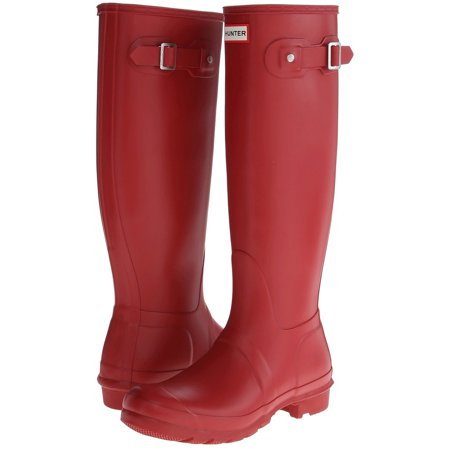 Hunter Women's Original Tall Rain Boots (Military Red / Size 7) - Red Go Go Boots