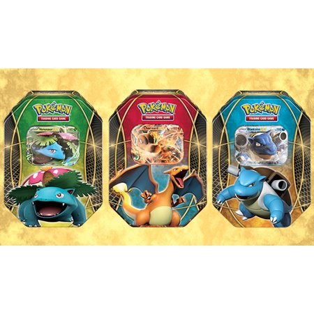 Pokemon TCG - EX Power Trio Tins - ALL 3 TINS - Blastoise, Charizard, and Venusaur (Family Trio)