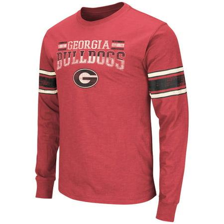 Georgia Bulldogs Ncaa Gridiron Long Sleeve Vintage Slub