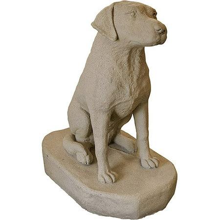Emsco Group Sitting Labrador Resin Construction Statuary