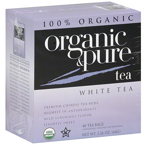 Organic & Pure White Tea, 40BG (Pack of 6)