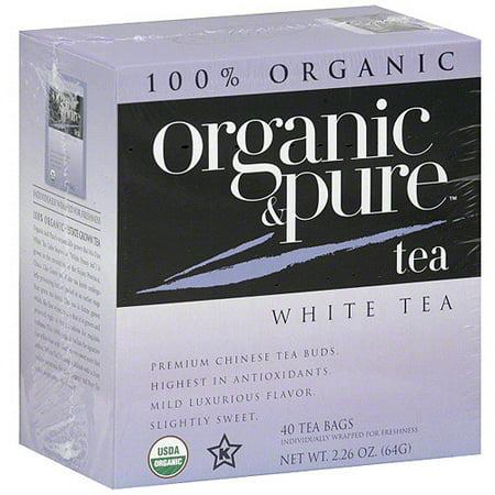 Organic & Pure Thé blanc, 40BG (Pack de 6)