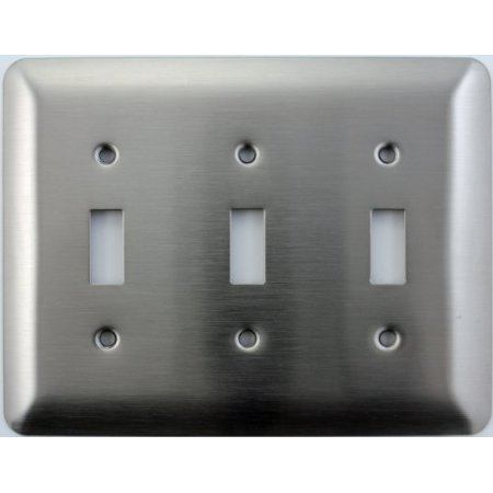 Mulberry Princess Style Satin Stainless Steel 3 Gang Toggle Light Switch Wall