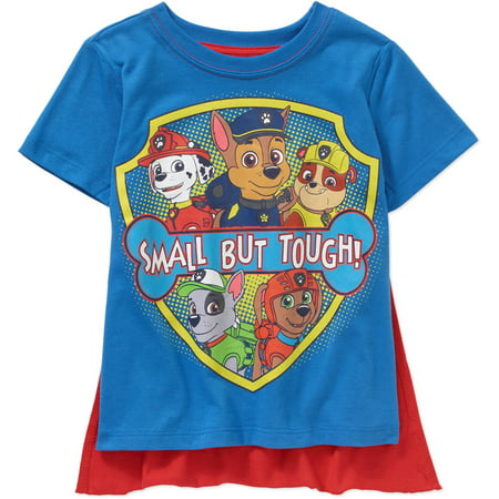 Paw Patrol Toddler Boy Small But Tough Short Sleeve Caped Tee](Toddler Boy Halloween T Shirts)