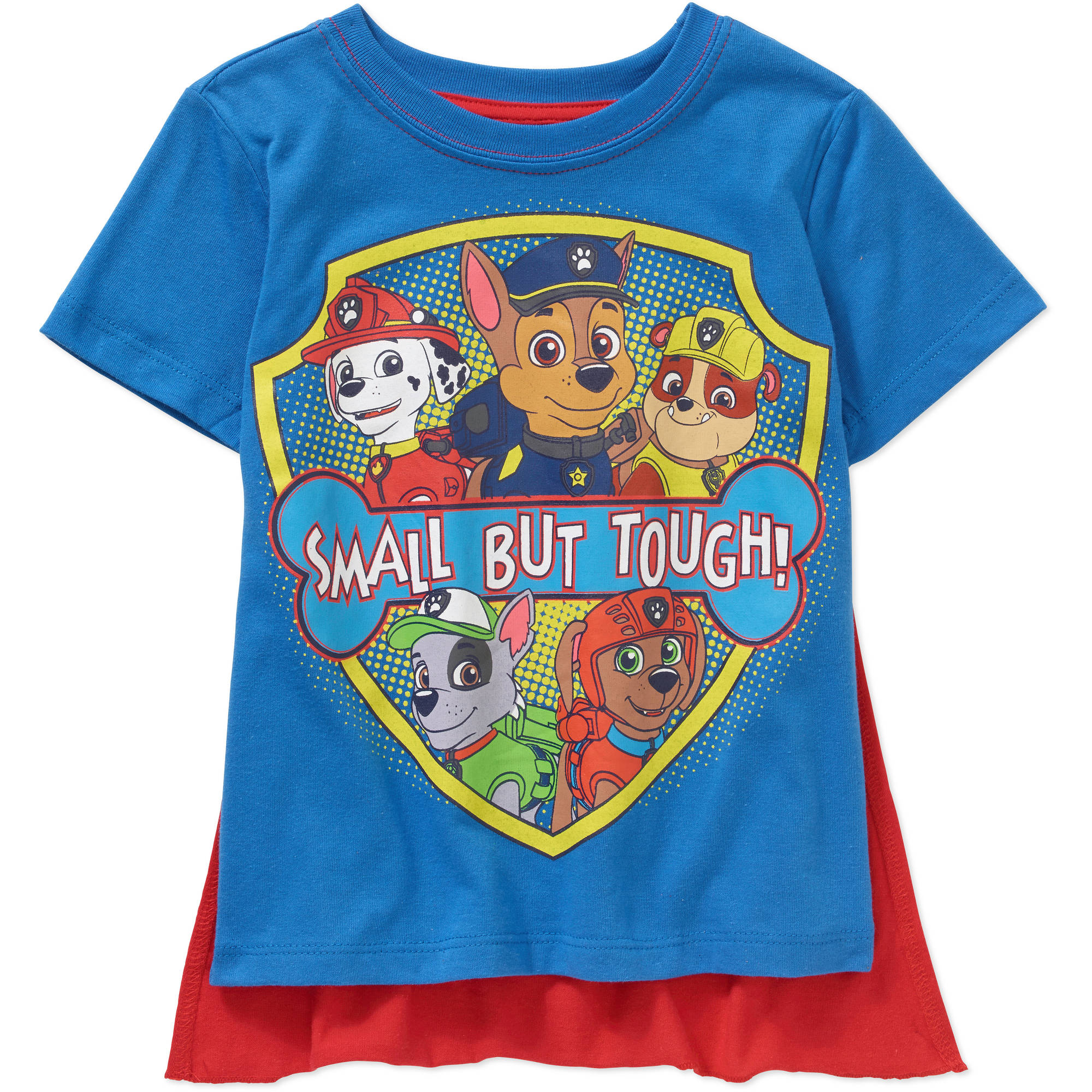Nickelodeon Paw Patrol Toddler Boy Small But Tough Short Sleeve Caped Tee