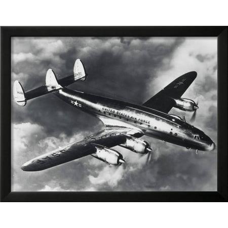 USAF Lockheed Constellation Transport Airplane Framed Print Wall Art ...