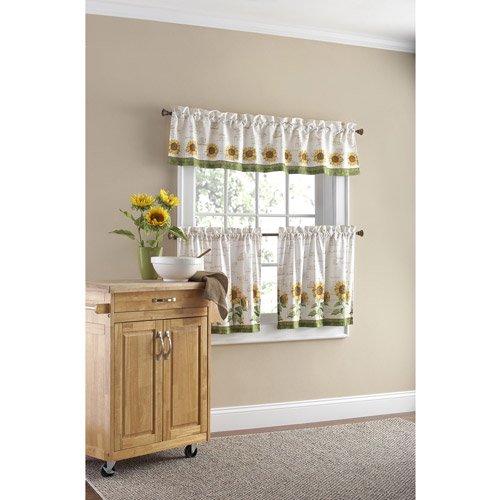 ... Mainstays Sunflower 3-Piece Kitchen Curtain Set