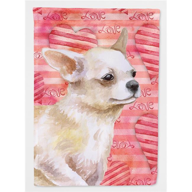 Carolines Treasures BB9784GF Chihuahua Leg up Love Flag - Garden Size - image 1 of 1