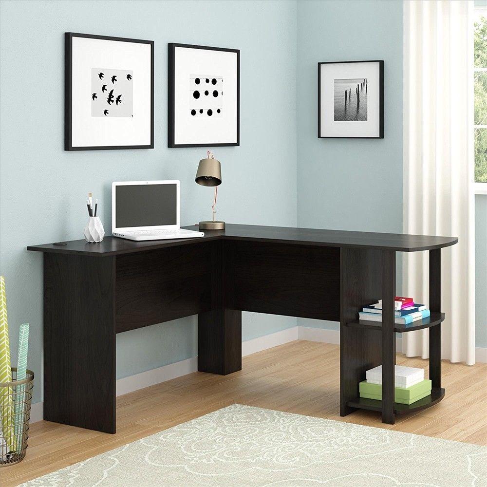 home office workstation. Ktaxon L-Shaped Computer Desk Home Office Workstation Study Laptop PC Table Furniture Dark Brown F