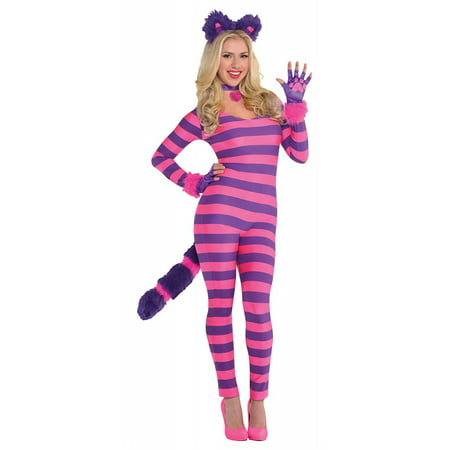 Cheshire Cat Bodysuit (Lady Cheshire Cat Adult Costume -)
