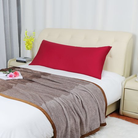 Body Pillowcase Pillow Case Cover w Zipper 280TC 1Pcs, 20 x 60 (Red King Pillowcases)