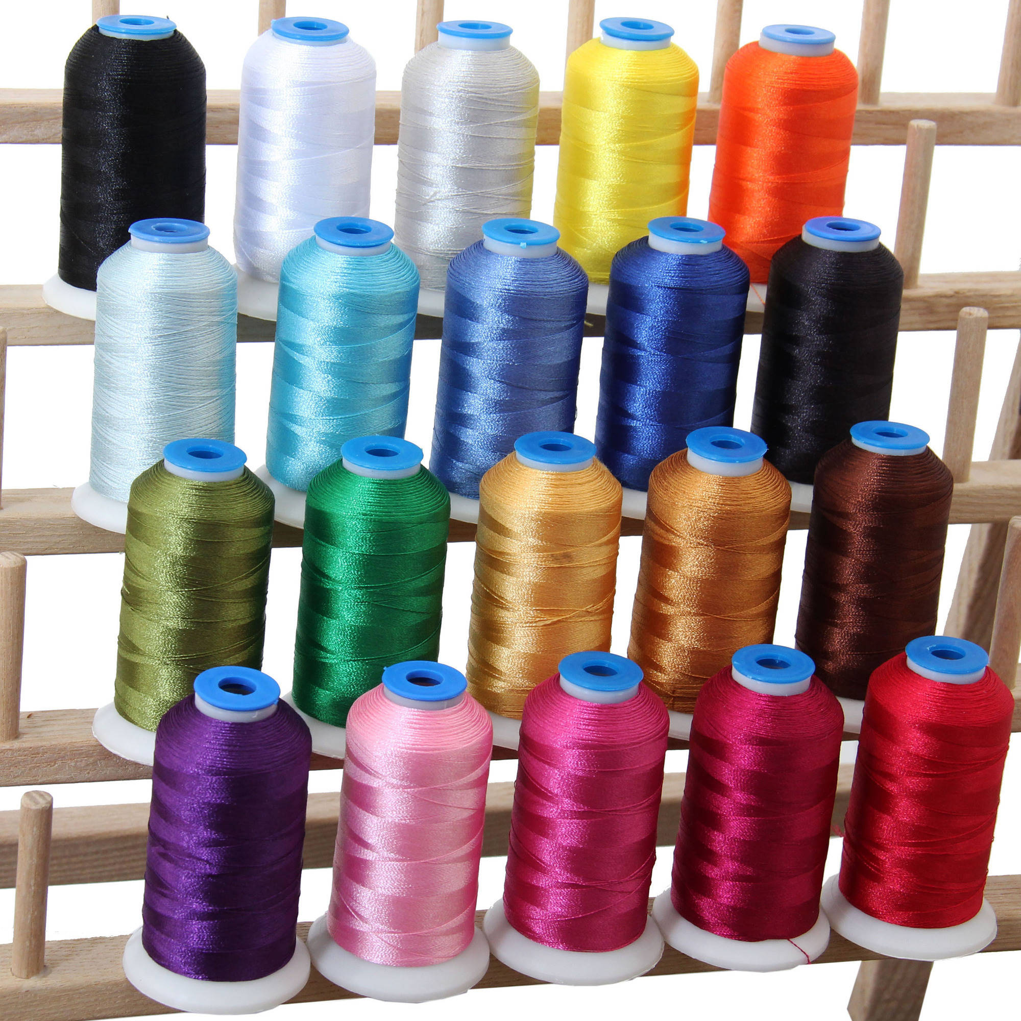 Threadart 20 Cone Set Polyester Embroidery Thread 1000m Spools, 11 Different Sets Available
