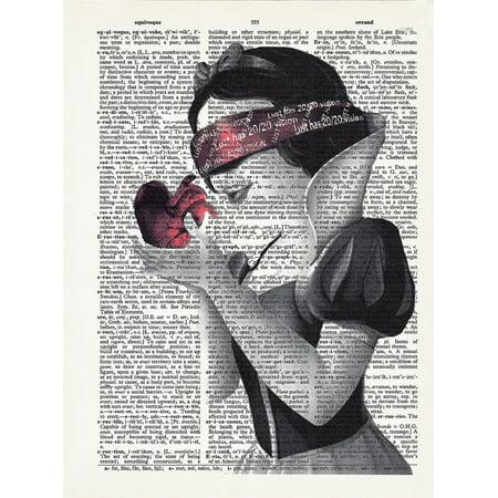 Art N Wordz Snow White Blindfolded Original Dictionary Sheet Pop Art Wall or Desk Art Print Poster