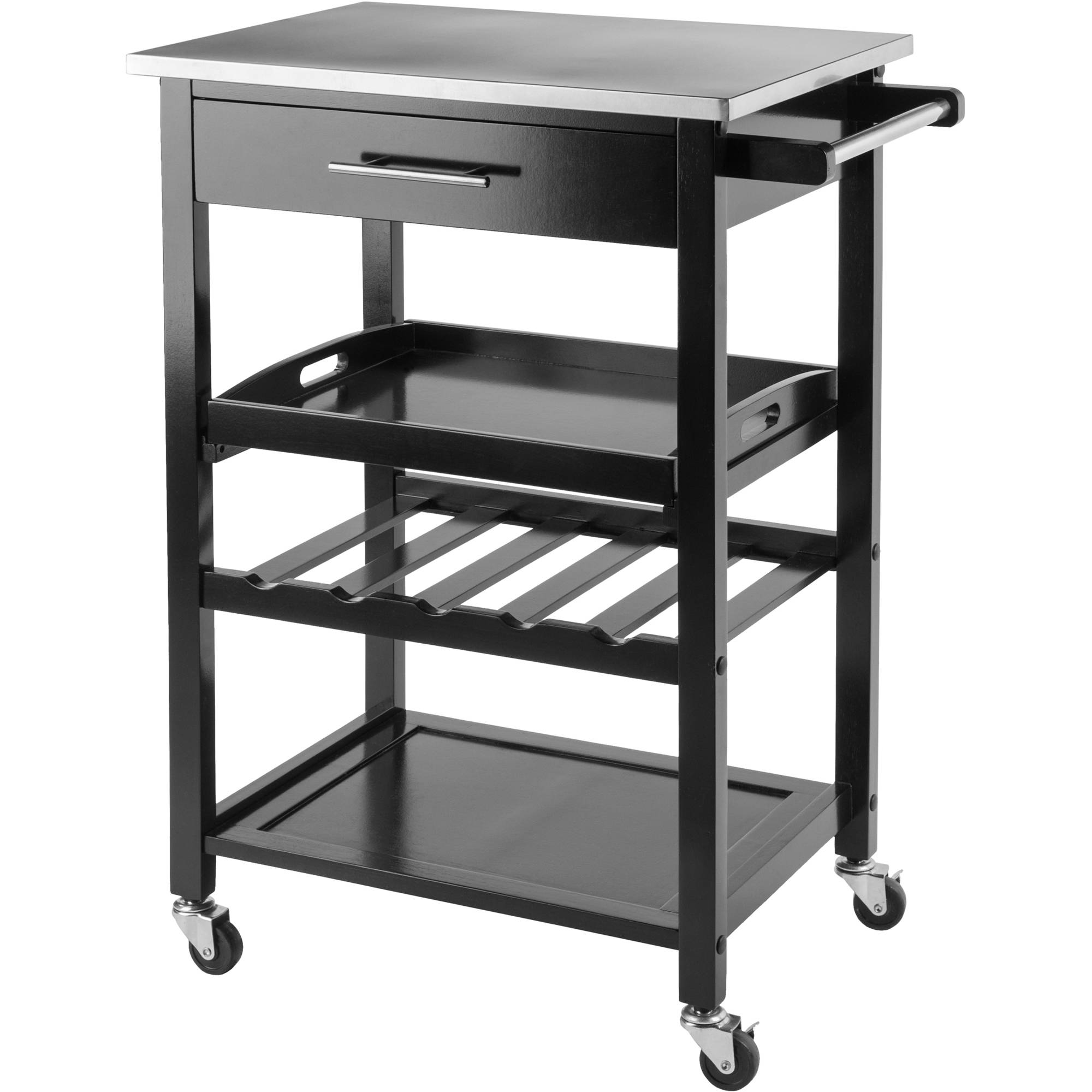 Delightful Winsome Anthony Stainless Steel Top Kitchen Cart   Walmart.com