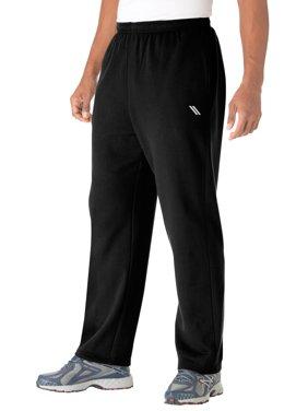 Ks Sport Men's Big & Tall Wicking Fleece Open Bottom Pants