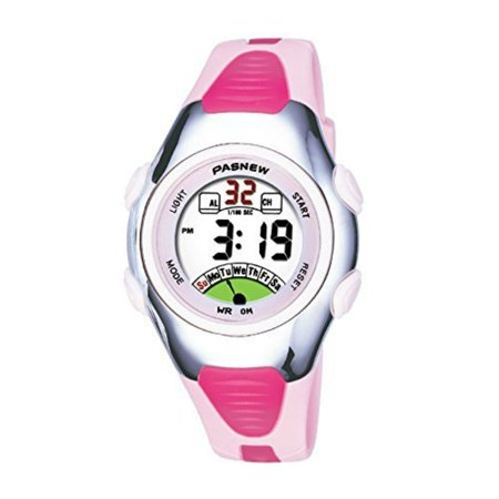 Fashion Waterproof LED Digital Sport Watch with Alarm, Chronograph, Date for Women Color:Pink
