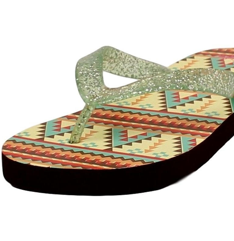Blazin Roxx Western Shoes Womens Baylee Flip Flops Green 4118628