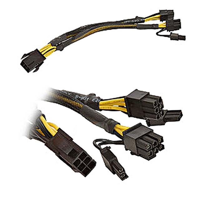 Works 22-100-21 PCI Express 6-Pin To 2 x PCI Express 6 Plus 2-Pin Cable Adapter, 9.6 in. Long
