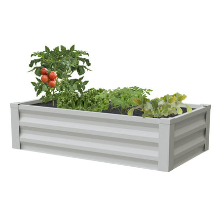 Greenes Fence Powder Coated Metal Raised Garden Bed Planter 24 W X 48 L 10 H