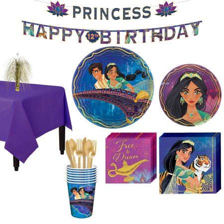 Party City Aladdin Tableware Party Supplies for 8 Guests - Party City Cleopatra