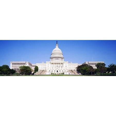 US Capitol Washington DC District Of Columbia USA Canvas Art - Panoramic Images (18 x 6)