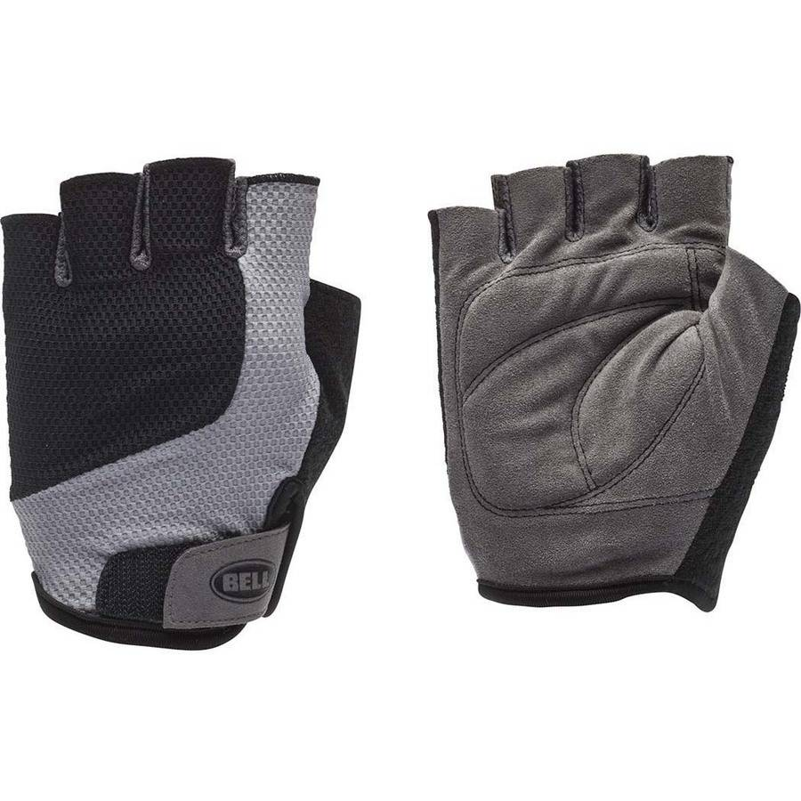 Bell Sports Breeze 300 Half-Finger Cycling Gloves, Black/Gray