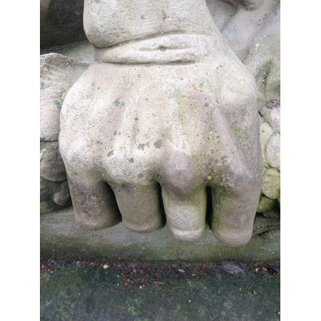 LAMINATED POSTER Force Finger Hand Faust Sculpture Stone Poster Print 24 x  36