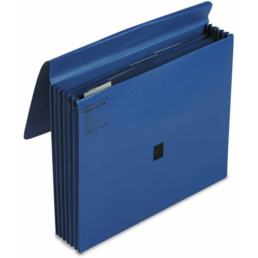 "Wilson Jones ColorLife 5 1/4"" Expansion File, 5 Pockets, Letter, Dark Blue"