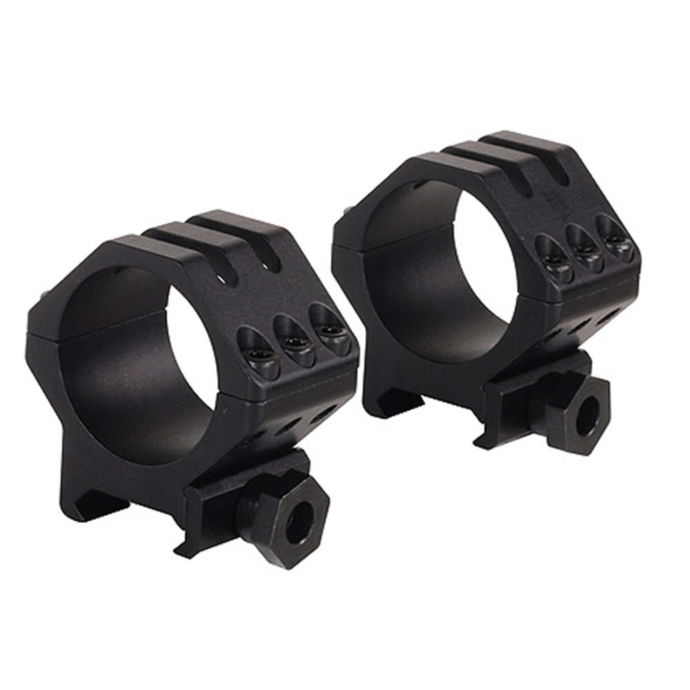 Weaver 38mm Obj. Tactical 6-Hole Weaver-Style Rifle Scope Rings, 30mm, Low , Matte Black - 48355