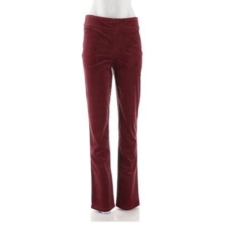 Denim & Co Smooth Waist Strch Corduroy Pull-on Pants A294472