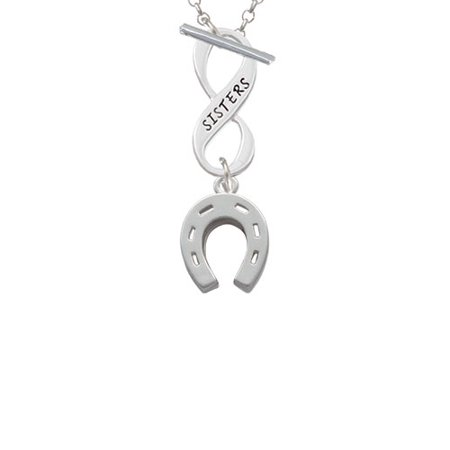 (Horseshoe Sisters Infinity Toggle Chain Necklace)