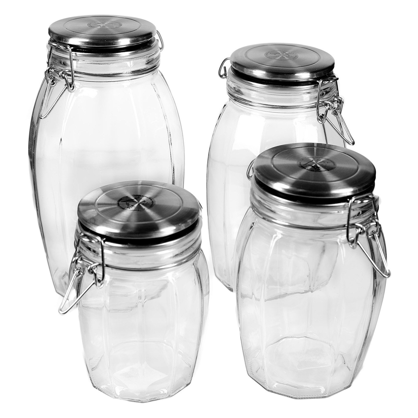 global amici lock tight glass jars set of 4 walmart com