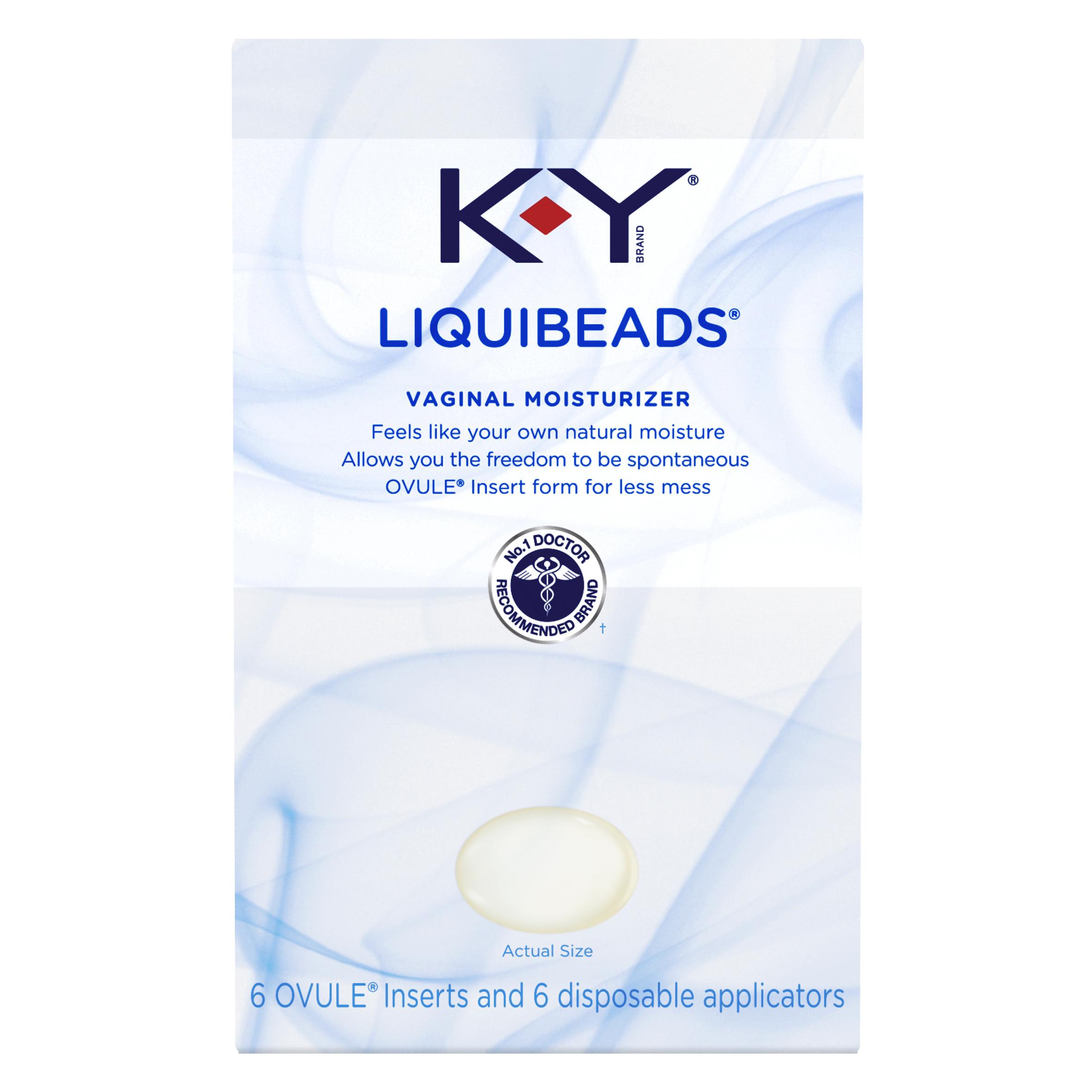 K-Y Liquibeads Vaginal Moisturizer, 6 Beads