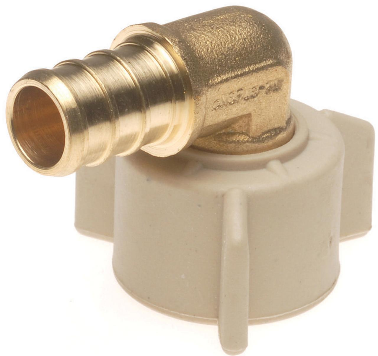 Conbraco CPXFAE1212 Swivel Pipe Elbow, 90 deg, 1/2 in, Pex, Brass