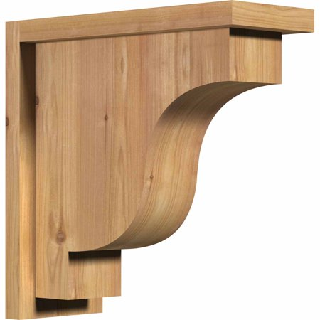 5 1 2 W x 14 D x 14 H Newport Smooth Corbel w Backplate Western Red C
