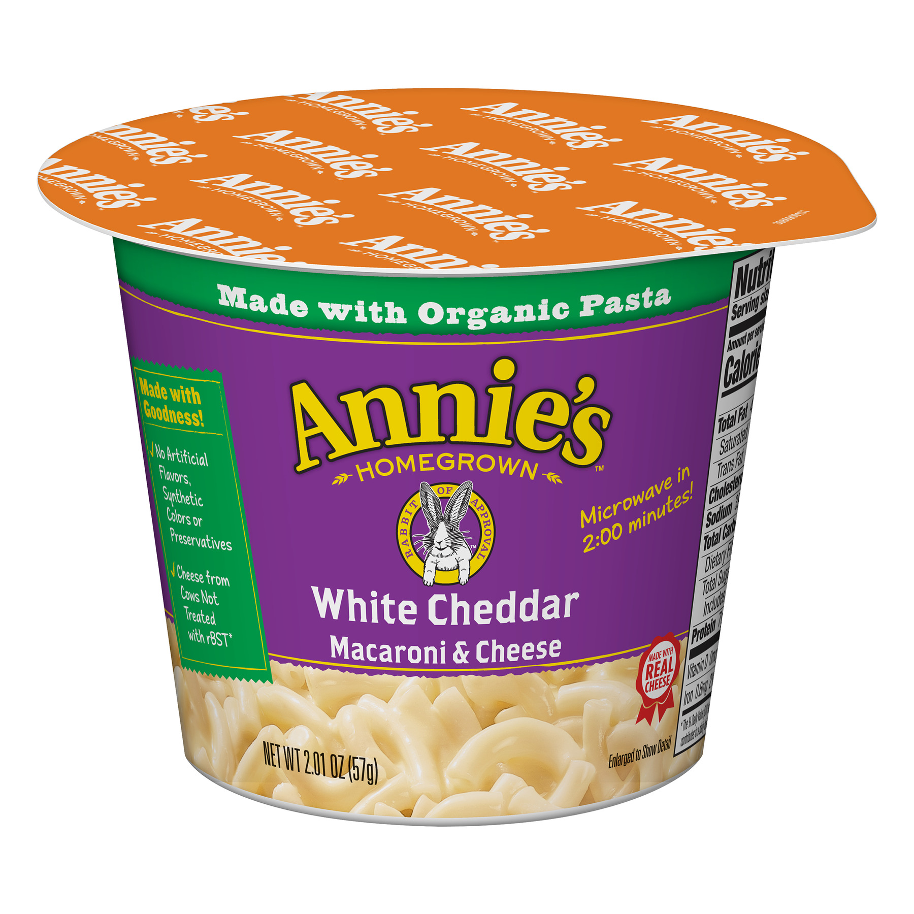 Annie's White Cheddar Macaroni and Cheese Micro Cup, 2.01 oz