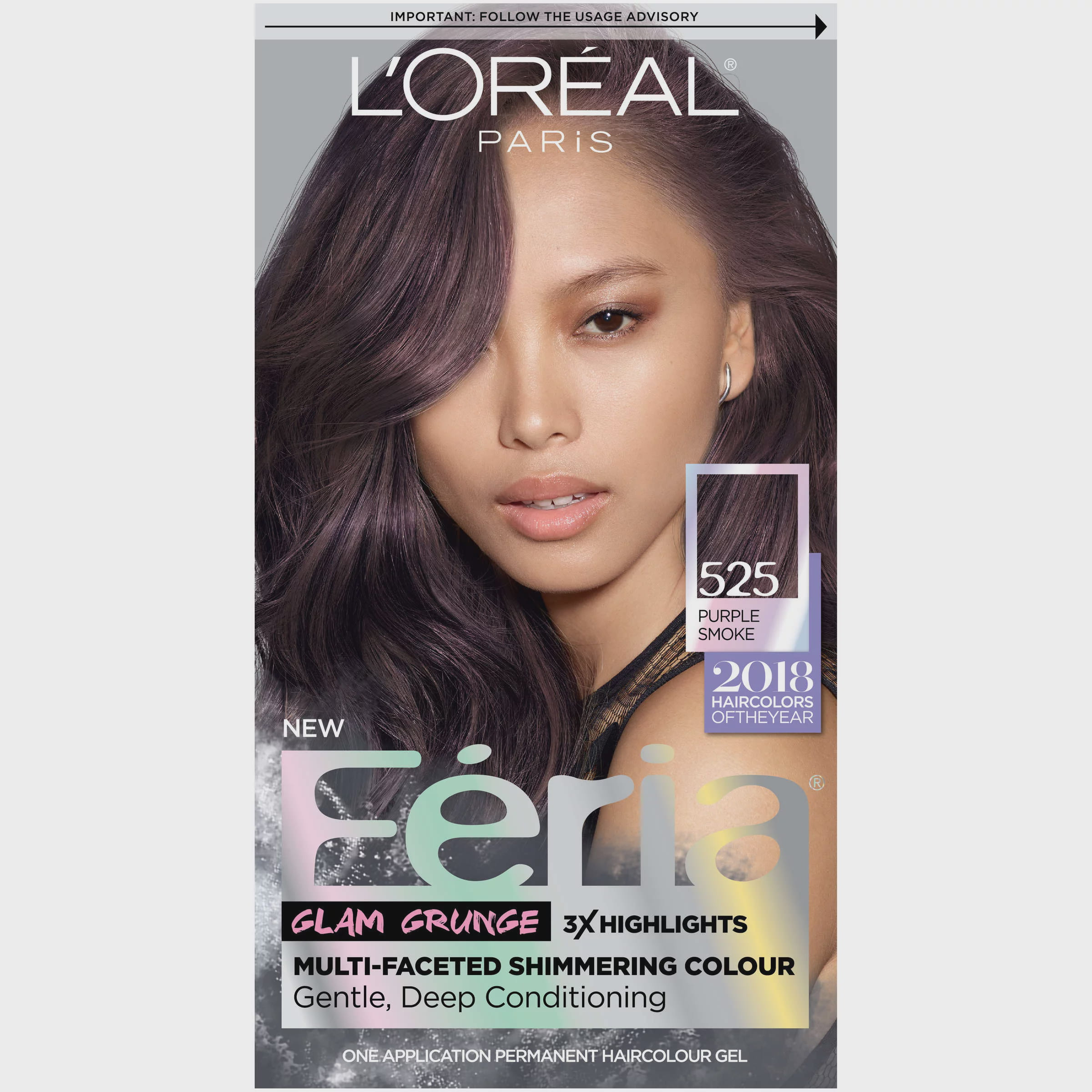 Loreal Paris Feria Permanent Hair Color 525 Purple Smoke Walmart