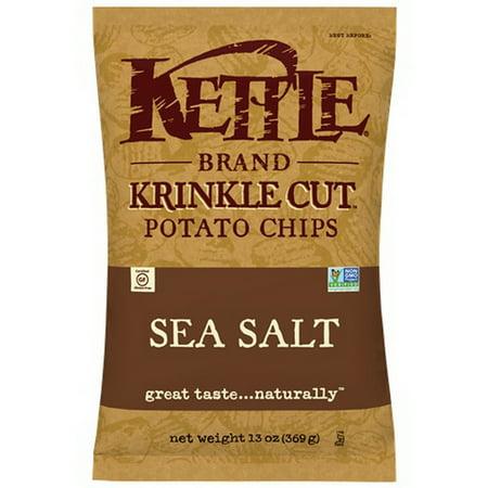 (Price/Case)Kettle Foods 112228 Kettle Chip Sea Salt Krinkle Cut 9C/13Z