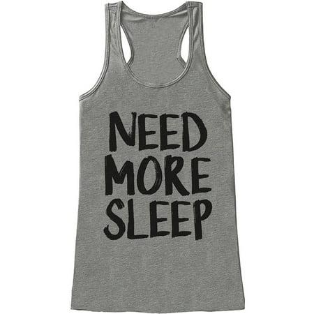 Custom Party Shop Womens Need More Sleep Funny Tank Top - X-Large Womens Sleep Tank