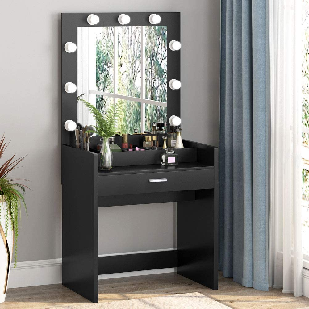 Tribesigns Vanity Set with Lighted Mirror and Cosmetic ... on Makeup Bedroom  id=63809