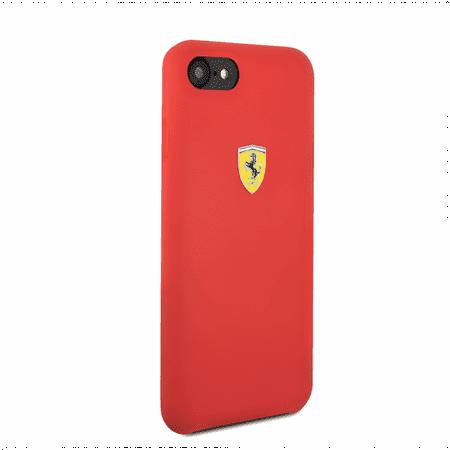 FERRARI RED SMOOTH SILICONE HERITAGE CASE (iPhone (Ferrari Case)