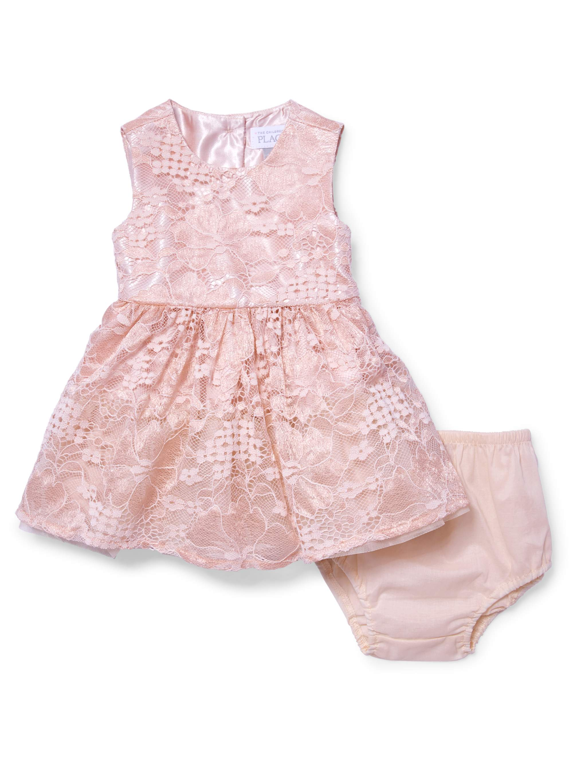 Pink Lace Dress (Baby Girls)