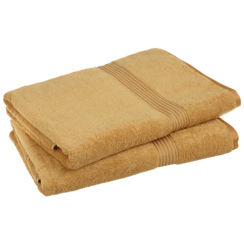2-Piece Bath Sheet Set, 100% Premium Long-Staple Combed Cotton, 15 Colors