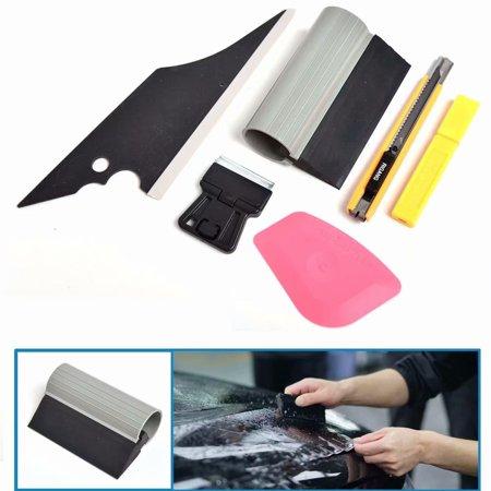 6PCS Car Window Tint Wrapping Vinyl Tools Squeegee Scraper Applicator Kits