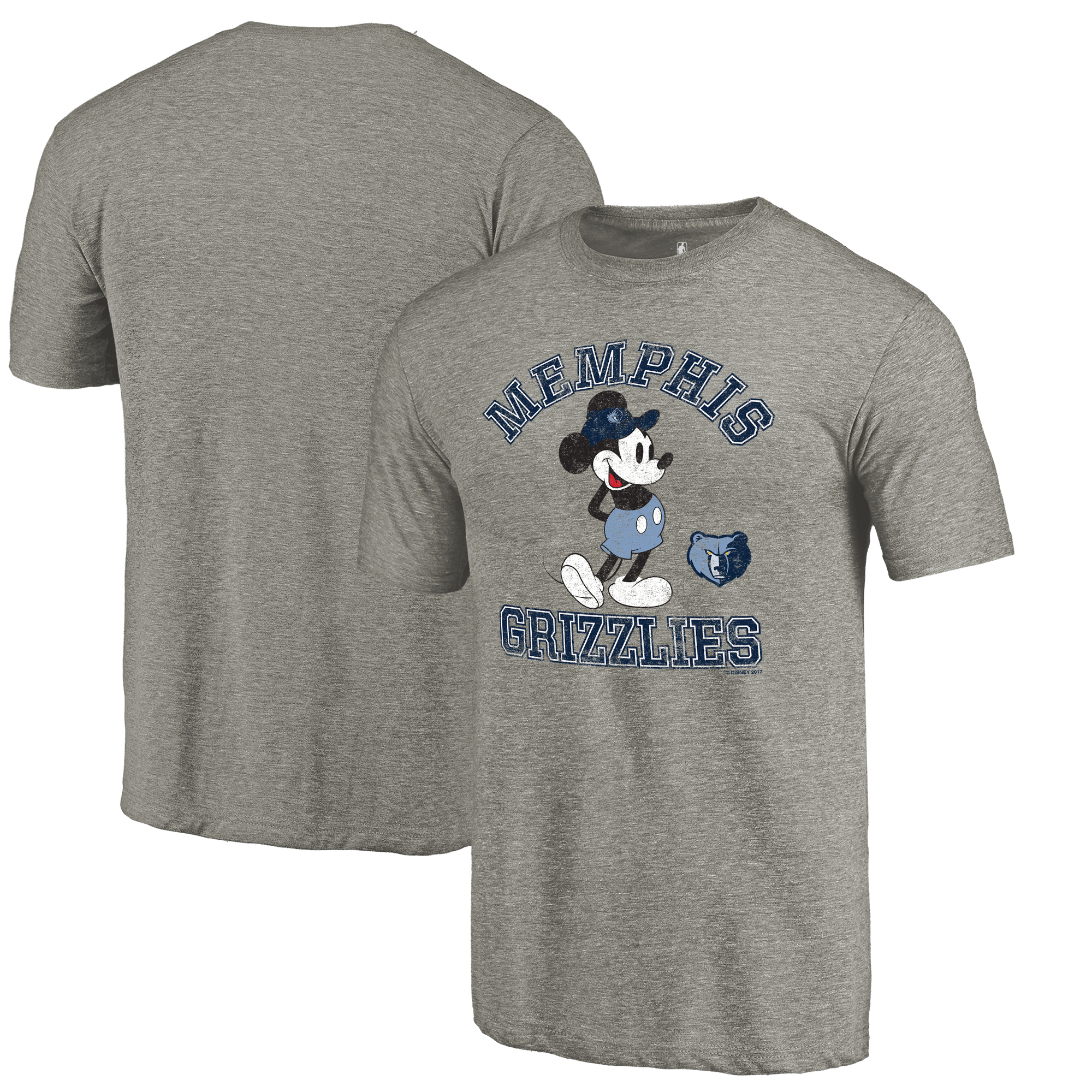 Memphis Grizzlies Fanatics Branded Disney Tradition Tri-Blend T-Shirt - Ash